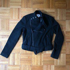 Carine Roitfeld for Uniqlo Crop Black Moto Jacket